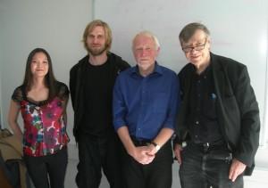 Susan Sencindiver, Andreas Slocinski, Torben Carlsen og Ib Johansen.